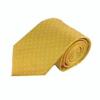 """63"""" XL Yellow w/White Dot Men's Tie 1579-0"""