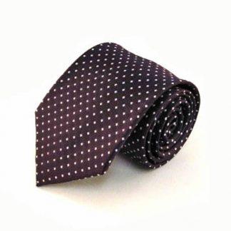 Eggplant w/Silver Dots Men's Tie 1735-0