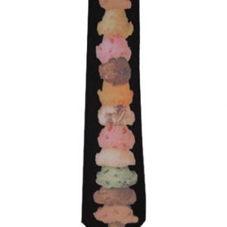 Stacked Ice Cream Cone Men's Tie 1784-0
