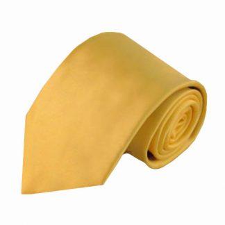 Yellow Solid Men's Tie w/Pocket Square 8277-0
