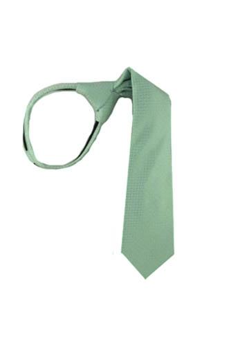 """14"""" Zipper Tie Mint Tone on Tone Basket Weave Boy's Tie 8316-0"""