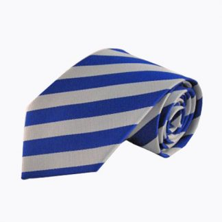 Royal & Silver Stripe Men's Tie 9051