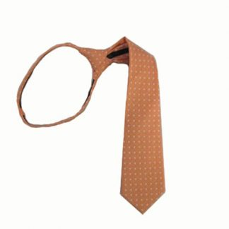 "17"" Orange w/White Dot Boy's Zipper Tie 9954-0"