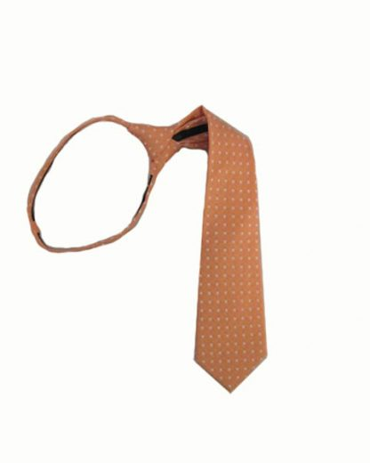 "17"" Orange w/White Dot Boy's Zipper Tie 9954-0"