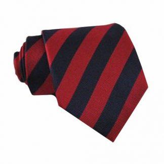 "49"" Boys Navy, Red Stripe Self Tie 10681-0"
