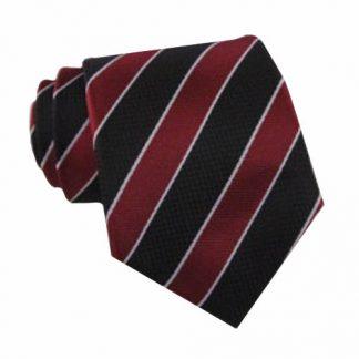 """49"""" Boys Burgundy, Black Stripe Self Tie 10692-0"""