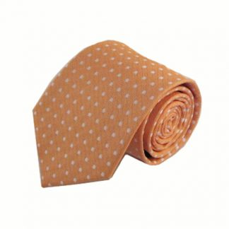 Orange, w/White Dot Men's Tie 11019-0