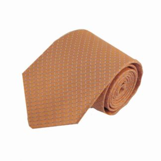 Salmon, Blue Squares Men's Tie 11422-0