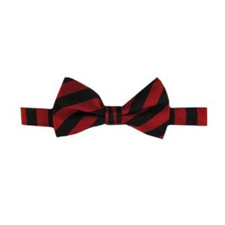 Black, Red Stripe Band Bow Tie 11518-0