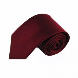 Burgundy Solid Silk Men's Tie 11523-0
