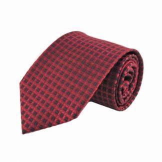 Red & Black Criss Cross Men's Tie 1618-0