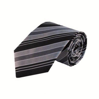 Black, Gray Stripe Men's Tie 2758-0