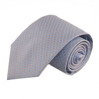 Light Blue, Pink Small Grid Men's Tie 2917-0