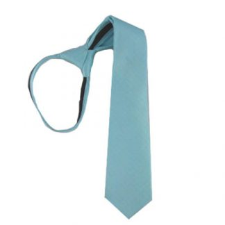 "17"" Aqua Tone on Tone Dots Boy's Zipper Tie 3494-0"