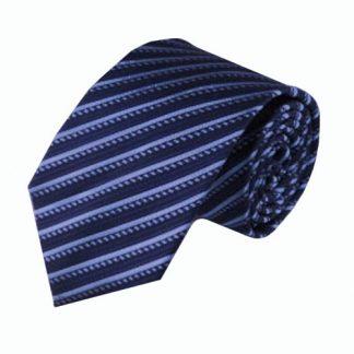 """63"""" XL Navy, Blue Stripe Men's Tie 3689-0"""