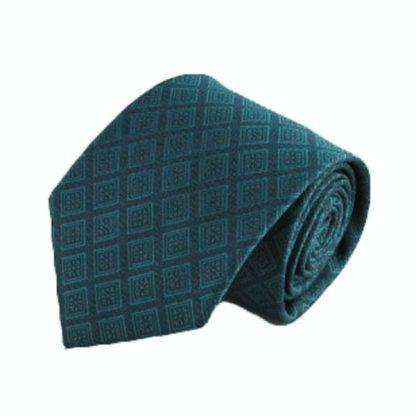 Teal Tone on Tone Diamonds Pattern Men's Tie 3909-0