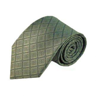 Olive Square Tone on Tone Men's Tie 4194-0