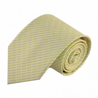 Light Yellow, Blue Small Grid Men's Tie 4396-0