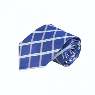 Cobalt Blue, Light Blue Large Criss Cross Men's Tie 4635-0