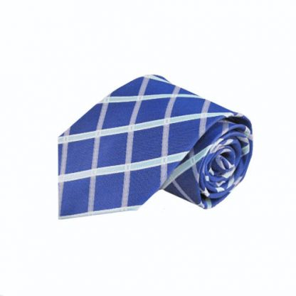 Cobalt Blue, Light Blue Large Criss Cross Men's Tie 4635-0