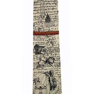 Leonardo DaVinci Sketch Silk Men's Tie 5138-0