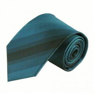 Teal, Black Muted Stripe Men's Tie 5154-0