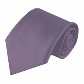 Medium Purple Solid Men's Tie w/Pocket Square 6068