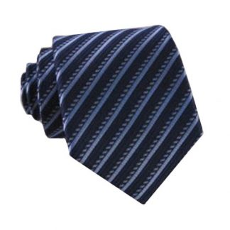 """49"""" Boys Navy, Blue Stripe Self Tie 6447-0"""