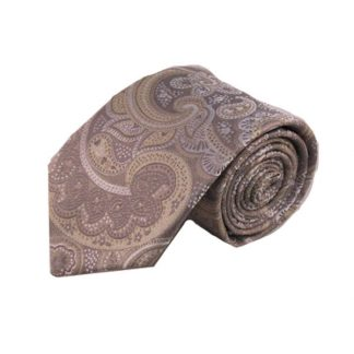 Gray, Cream Pailsey Silk Men's Tie 8135-0