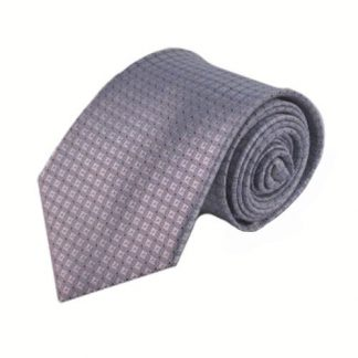 Gray, Black Small Diamond Polka Dot Men's Tie 8256-0