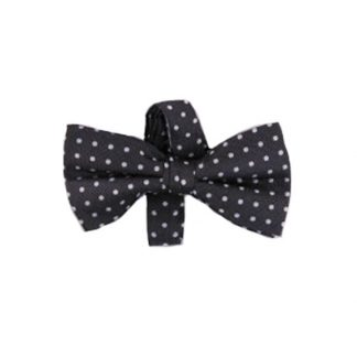 Charcoal w/Silver Banded Bow Tie 8369-0