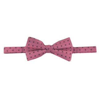 Blue Small Diamond on Pink Band Bow Tie 9535-0