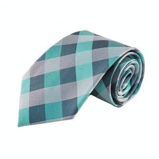 Tiffany Blue, Aqua Grid Silk Men's Tie 9642-0