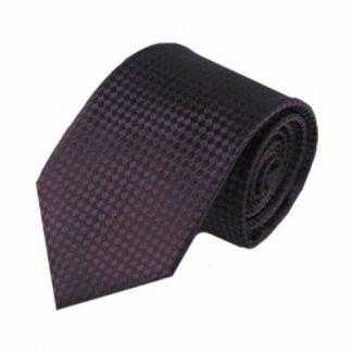 Purple Small Square Basket Weave Men's Tie 9735-0