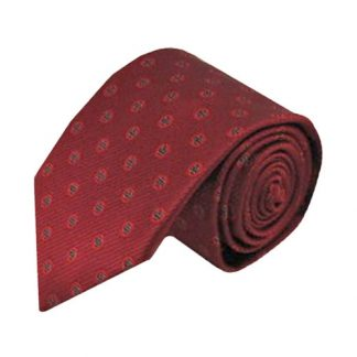 Burgundy, Red Small Circles Men's Tie 10731-0