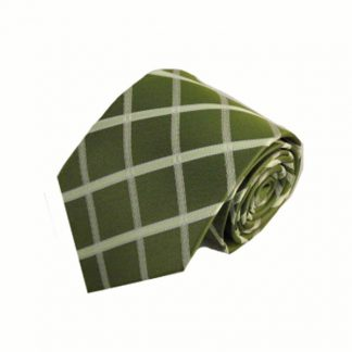 Sage Green, Lime Green Criss Cross Men's Tie 10975-0