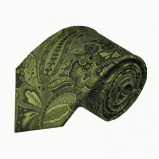 Green, Olive Large Paisley Men's Tie 1799-0