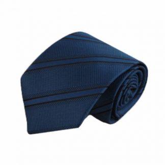 Royal Blue, Black Stripe Men's Tie 2428-0