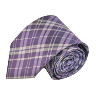 Lavender, Gray, Silver Plaid Men's Tie 3629-0