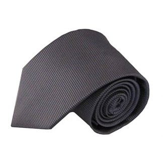 Charcoal Solid Tone on Tone Stripe Men's Tie 3700-0
