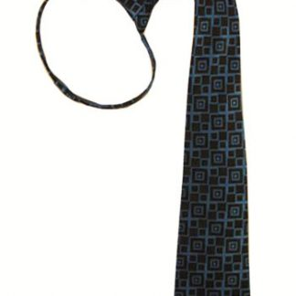 "17"" Boys Royal Blue, Black Diamond Zipper Tie 4298-0"