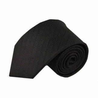 Black Solid Tone on Tone Square Men's Tie 4420-0