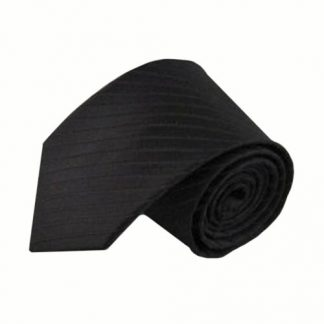 Black Tone on Tone Stripe Men's Tie 5538-0