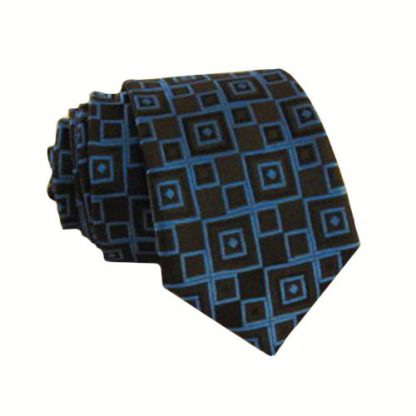 "49"" Boy's Royal Blue, Black Diamond Self Tie 6431-0"