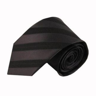 Charcoal Tone on Tone Stripe Men's Tie 6652-0