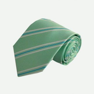 Mint, Turquoise, White Stripe Men's Tie 7516-0