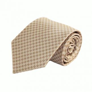 Cream & Taupe Square Striped Men's Tie 8673-0