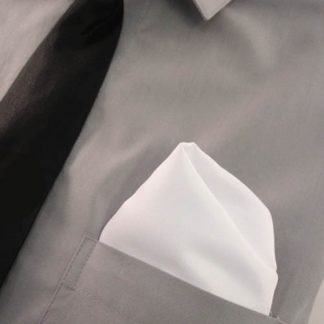 White Solid Pocket Square 9734-0