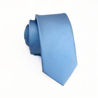 Light Blue Solid Men's Skinny Tie 11413-0