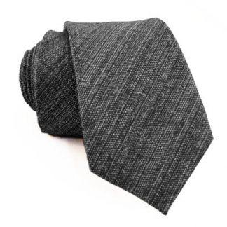 Charcoal Texteured Skinny Men's Tie 1797-0